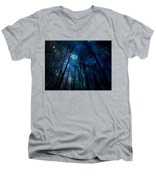 Where The Faeries Meet Men's V-Neck T-Shirt by Micki Findlay