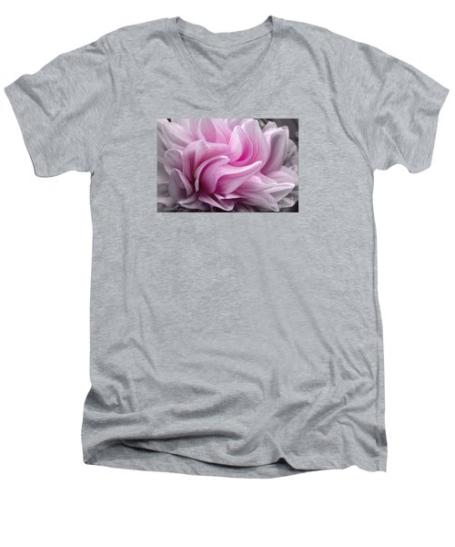 Whimsy Girl Men's V-Neck T-Shirt by Jean OKeeffe Macro Abundance Art