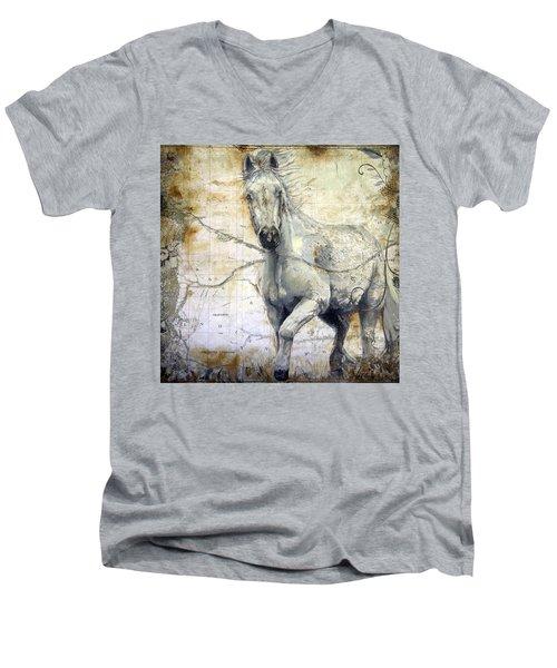 Whipsers Across The Steppe Men's V-Neck T-Shirt