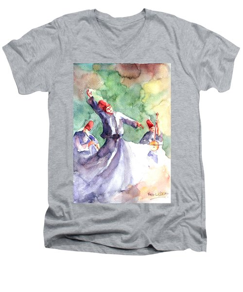 Whirling Dervishes Men's V-Neck T-Shirt