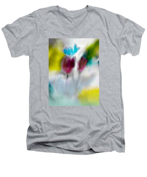 Men's V-Neck T-Shirt featuring the digital art Whisper by Frank Bright