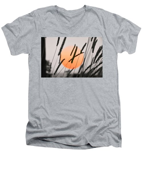 Men's V-Neck T-Shirt featuring the photograph Whispers by Charlotte Schafer