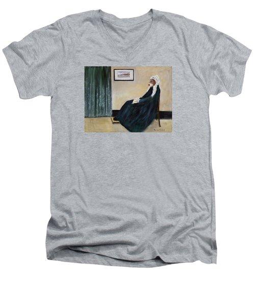 Whistlin Mother Men's V-Neck T-Shirt by Randy Burns