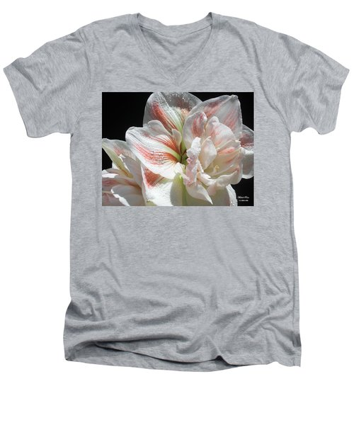 White Beauty  Men's V-Neck T-Shirt