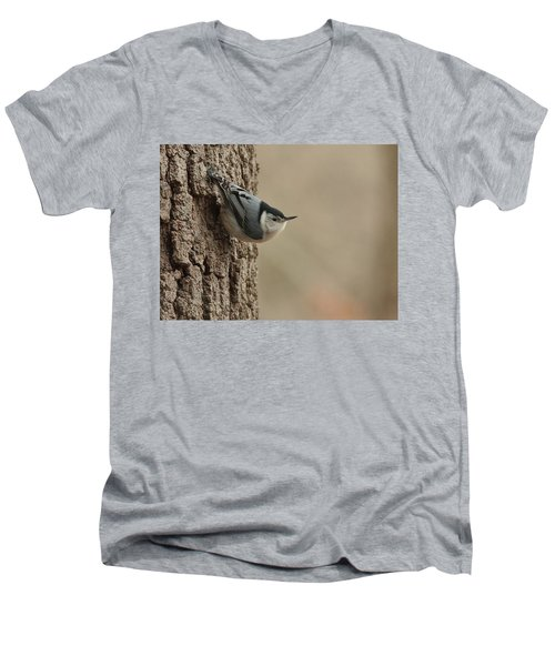 White-breasted Nuthatch Men's V-Neck T-Shirt