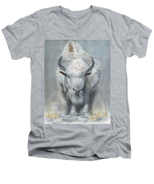 White Buffalo Men's V-Neck T-Shirt