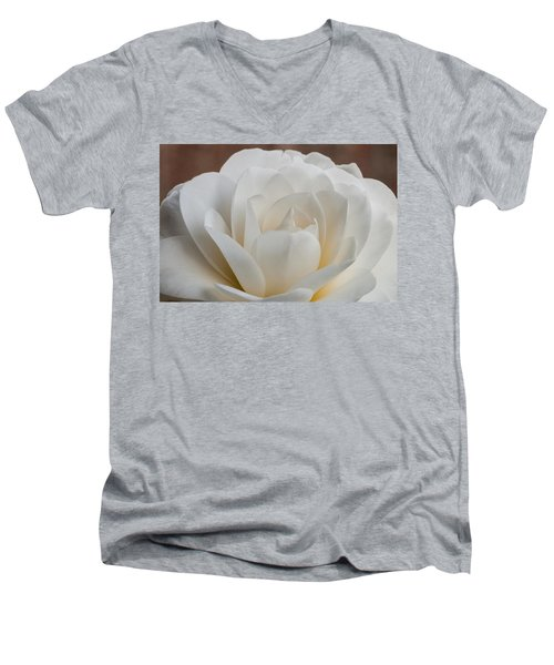 White Camellia Men's V-Neck T-Shirt