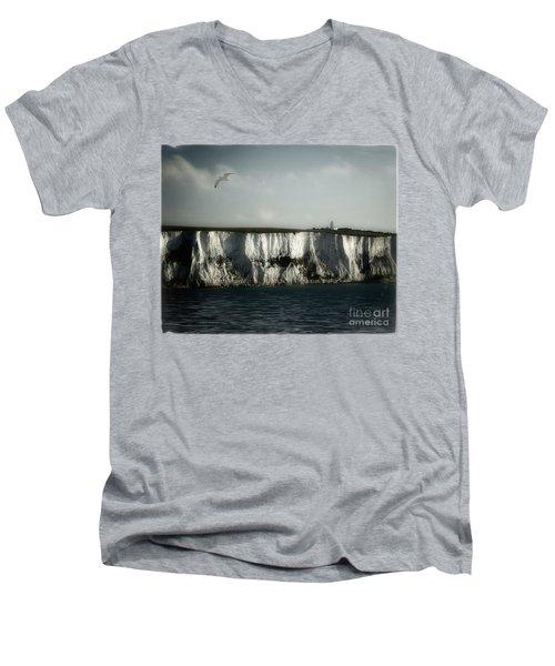 White Cliffs Of Dover Men's V-Neck T-Shirt