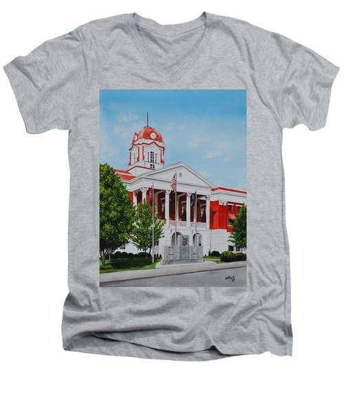 White County Courthouse - Veteran's Memorial Men's V-Neck T-Shirt