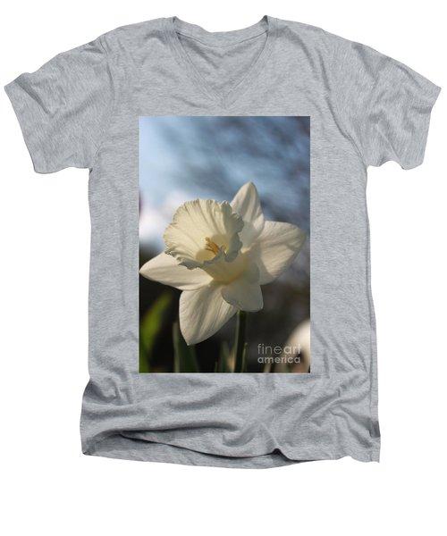 White Daffodil Men's V-Neck T-Shirt