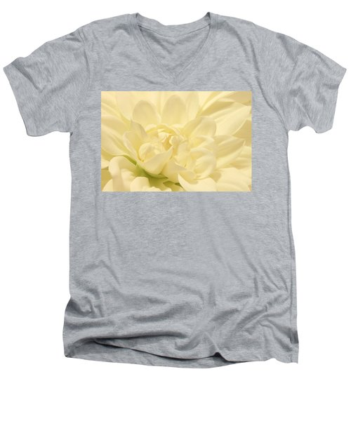 White Dahlia Dreams Men's V-Neck T-Shirt
