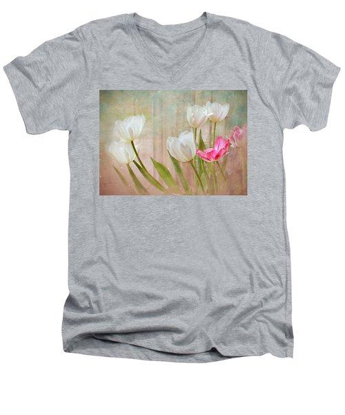 White Lily Show Men's V-Neck T-Shirt
