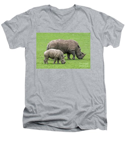 White Rhino 8 Men's V-Neck T-Shirt