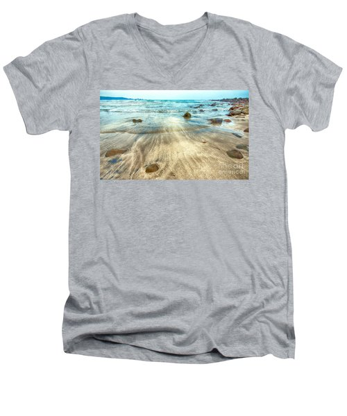 White Sand Beach Men's V-Neck T-Shirt
