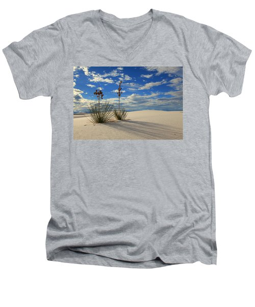 White Sands Afternoon 2 Men's V-Neck T-Shirt