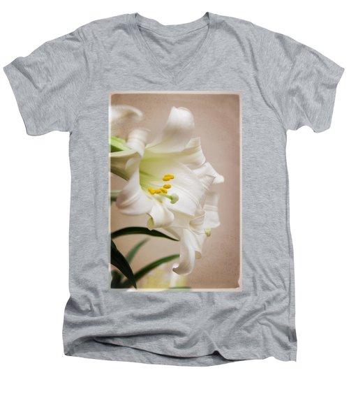 White Softness Men's V-Neck T-Shirt