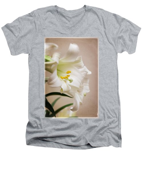 White Softness Men's V-Neck T-Shirt