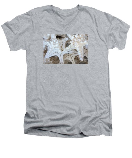White Starfish Men's V-Neck T-Shirt