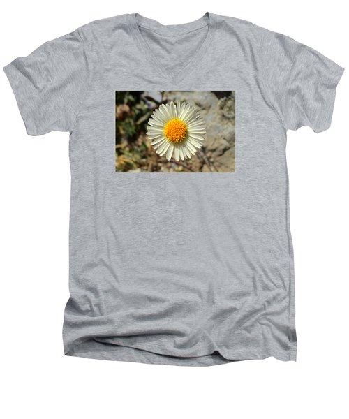 White Wild Flower Men's V-Neck T-Shirt