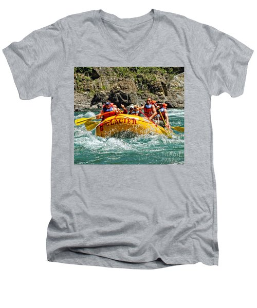 White Water Fun Men's V-Neck T-Shirt