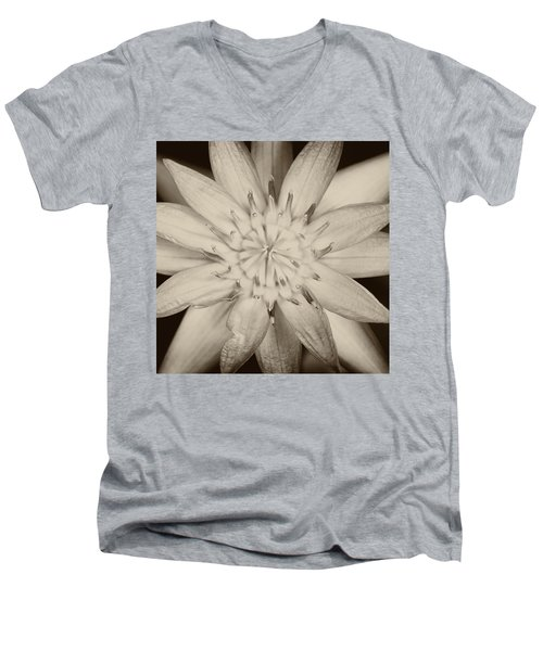 Lotus Men's V-Neck T-Shirt by Ulrich Schade