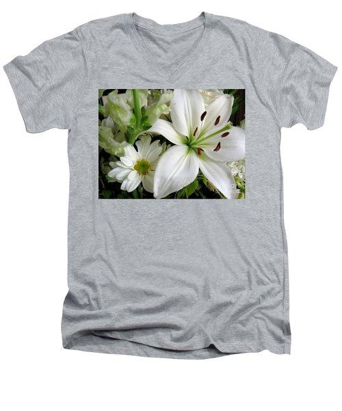 White Wonder Men's V-Neck T-Shirt by Rory Sagner