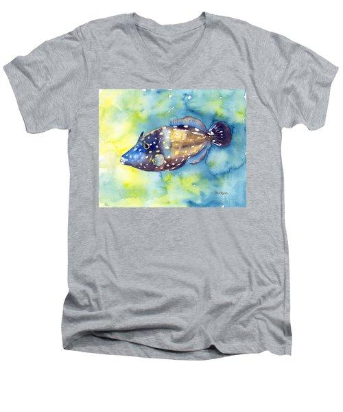 Whitespot Filefish Men's V-Neck T-Shirt