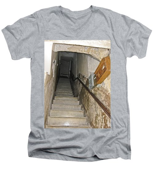 Men's V-Neck T-Shirt featuring the photograph Who Lives Here? by Allen Sheffield
