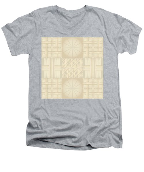 Wicker Quilt Men's V-Neck T-Shirt by Kevin McLaughlin