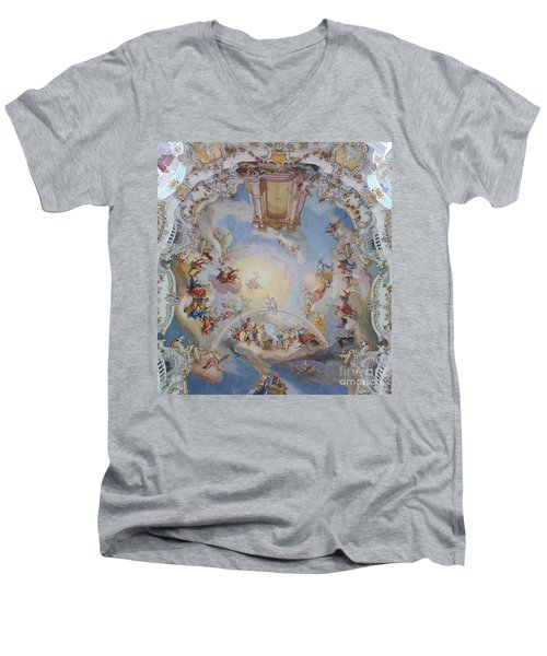 Wies Pilgrimage Church Bavaria Fresko Men's V-Neck T-Shirt