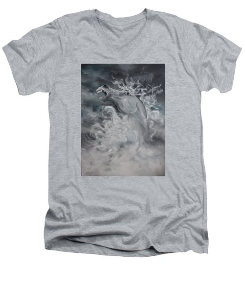 Men's V-Neck T-Shirt featuring the painting Wild And Free by Jean Walker