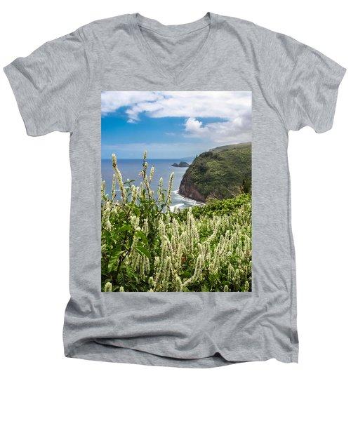 Wild Flowers At Pololu Men's V-Neck T-Shirt