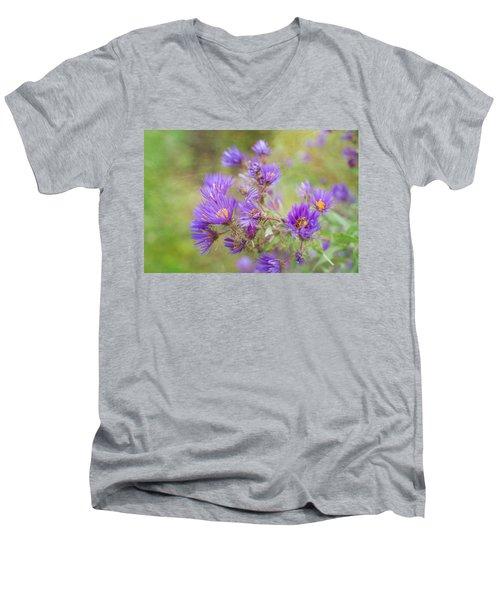 Wild Flowers In The Fall Men's V-Neck T-Shirt