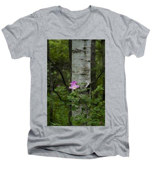Wild Rose Men's V-Neck T-Shirt