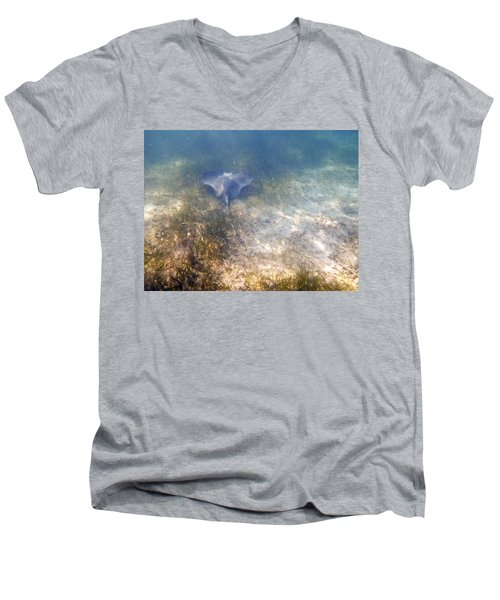 Men's V-Neck T-Shirt featuring the photograph Wild Sting Ray by Eti Reid