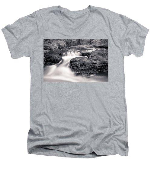 Wilderness River Men's V-Neck T-Shirt by Ari Salmela