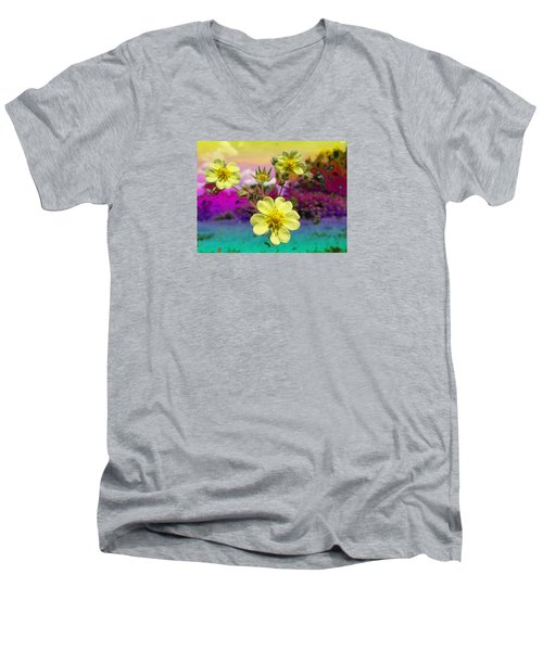 Wildflower Abstract Men's V-Neck T-Shirt