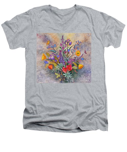 Wildflowers Of Alaska II Men's V-Neck T-Shirt