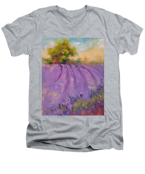 Wildrain Lavender Farm Men's V-Neck T-Shirt