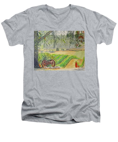 Willamette Valley Winery Men's V-Neck T-Shirt