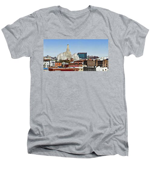 Williamsburg Savings Bank In Downtown Brooklyn Ny Men's V-Neck T-Shirt