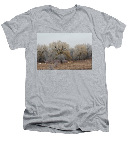 Willow Trees Iced Men's V-Neck T-Shirt