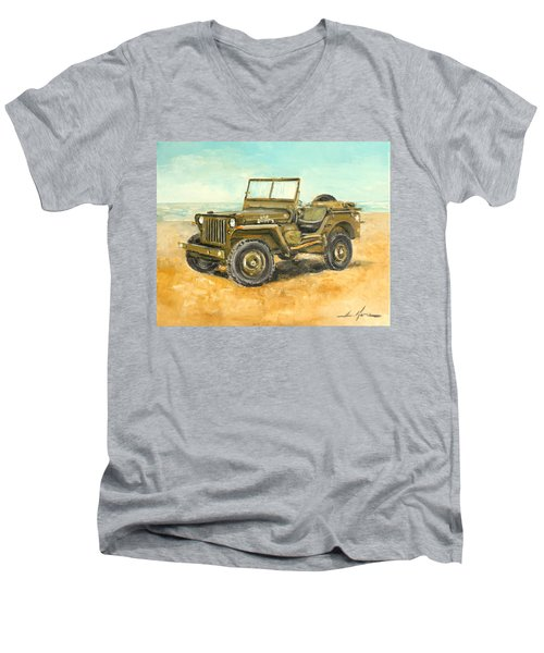 Willys Jeep Men's V-Neck T-Shirt