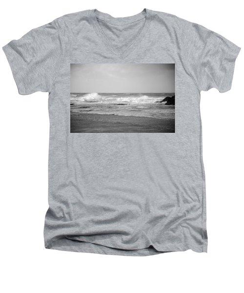Wind Blown Waves Tofino Men's V-Neck T-Shirt by Roxy Hurtubise