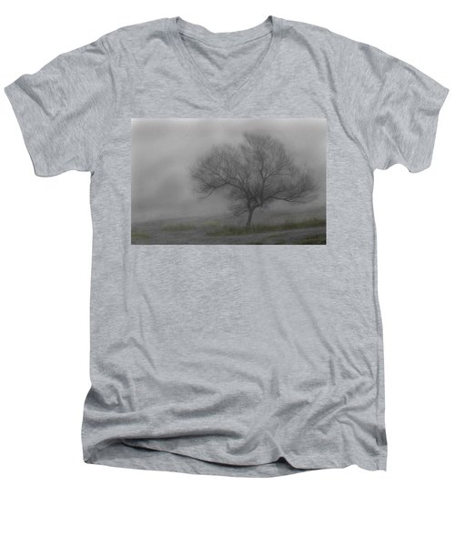 Wind Swept Tree Men's V-Neck T-Shirt