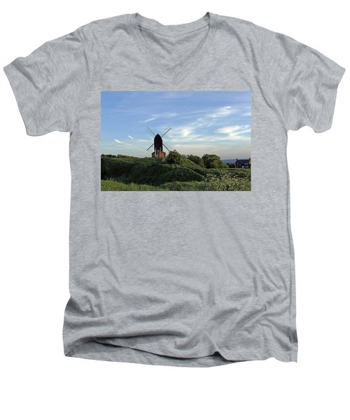 Windmill On Brill Common Men's V-Neck T-Shirt