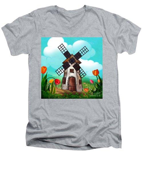 Windmill Path Men's V-Neck T-Shirt