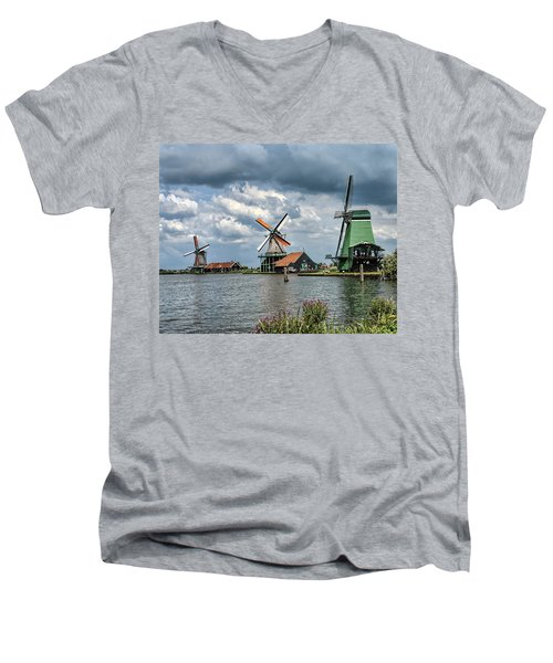 Windmill Trio Men's V-Neck T-Shirt