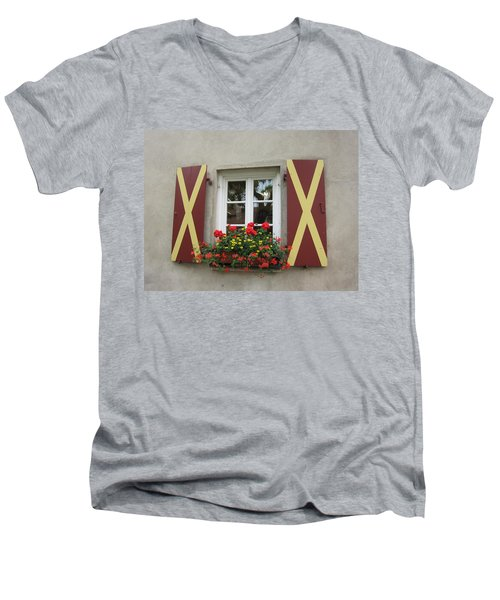 Window Dressing Men's V-Neck T-Shirt by Pema Hou