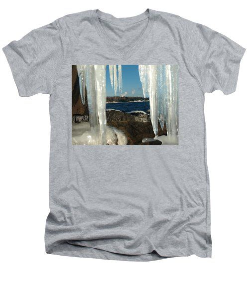 Men's V-Neck T-Shirt featuring the photograph Window Into Minnesota by James Peterson